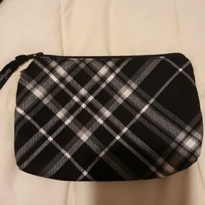 Thirty-one small pouch black plaid
